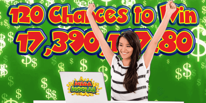 120 Chances to win Mega Moolah with this special offer