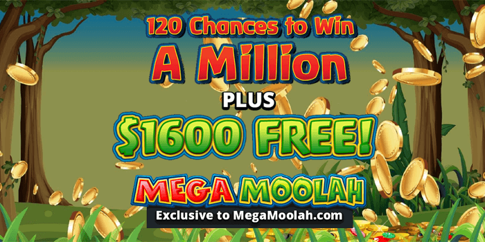 Get 120 Free Spins For 10 Deposit On Mega Moolah At Jackpot City Casino