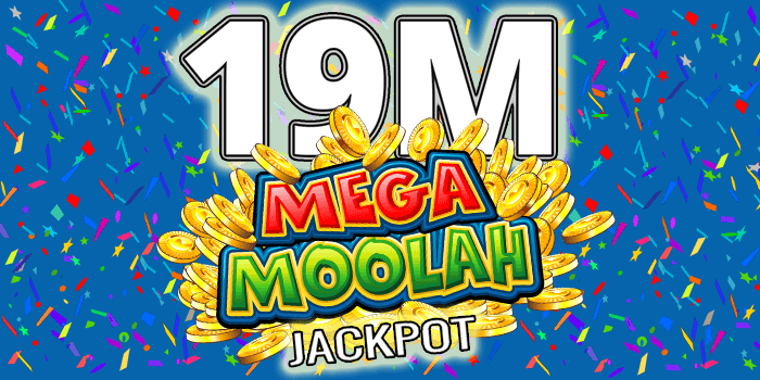 19 million Mega Moolah jackpot