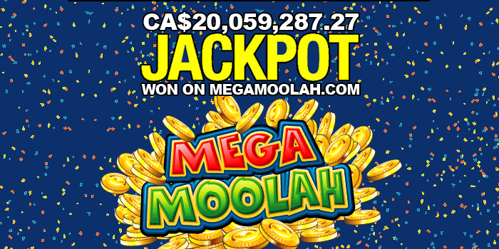 The biggest jackpot in Canada worth 20 million CAD was won on Mega Moolah