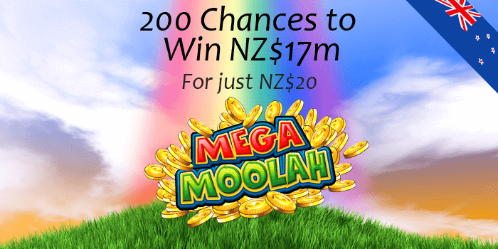 200 chances to become a Mega Moolah millionaire from New Zealand