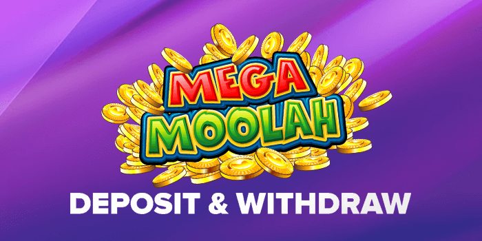 Deposit and withdraw banking options when playing Mega Moolah