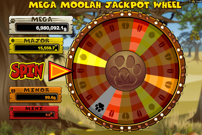 The Mega Moolah progressive jackpot slot