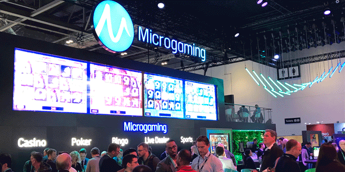 Microgaming stand at ICE 2018