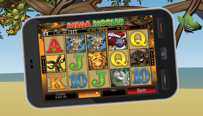 Another player has triggered the Mega Moolah jackpot on their mobile