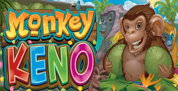 Monkey Keno, a bingo/lotto hybrid game, offers wins up to 10,000 times the initial bet