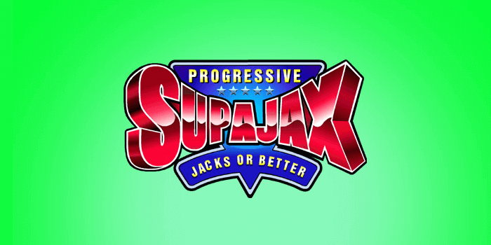 SupaJax is a progressive video poker game with a jackpot