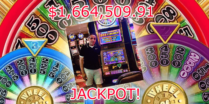 Robert from San Diego won a $1.6 million jackpot on the Wheel of Fortune Ultra Wheels slot