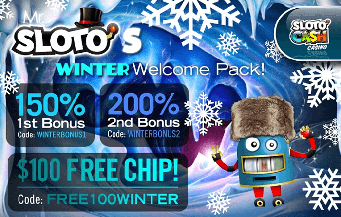 Stay indoors and keep warm and play some slots with these bonuses